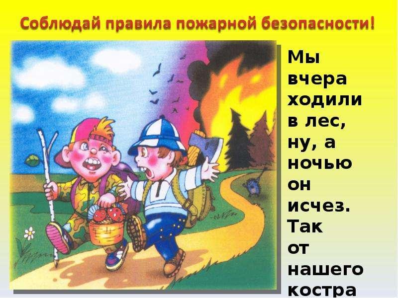 Рисунки правила безопасности в лесу