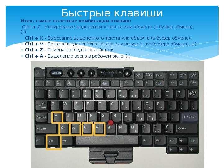 Быстрые клавиши на клавиатуре картинка