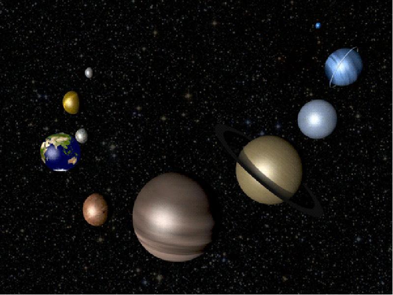 Движущиеся картинки с планетами