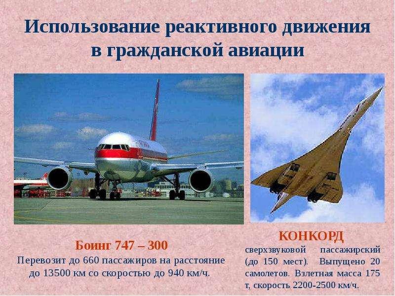 Использование реактивного движения в гражданской авиации