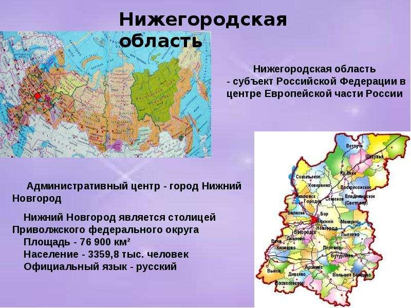 Мне Характеристика нижегородской области Совету теперь