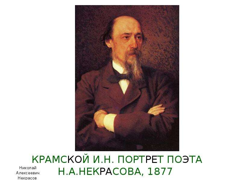 КРАМСКОЙ И. Н. ПОРТРЕТ ПОЭТА Н. А. НЕКРАСОВА, 1877