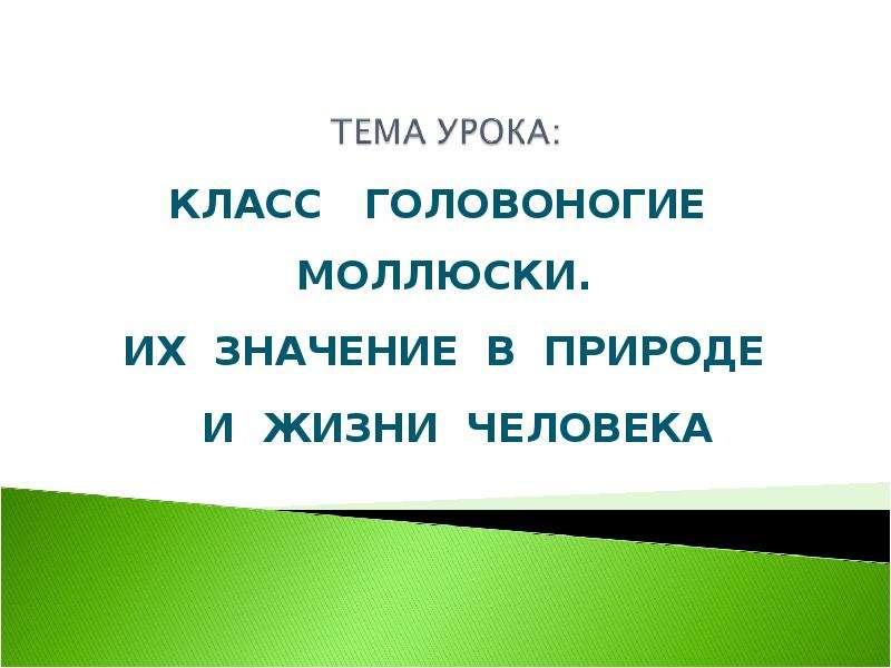 Презентация КЛАСС ГОЛОВОНОГИЕ МОЛЛЮСКИ. ИХ ЗНАЧЕНИЕ В ПРИРОДЕ И ЖИЗНИ ЧЕЛОВЕКА