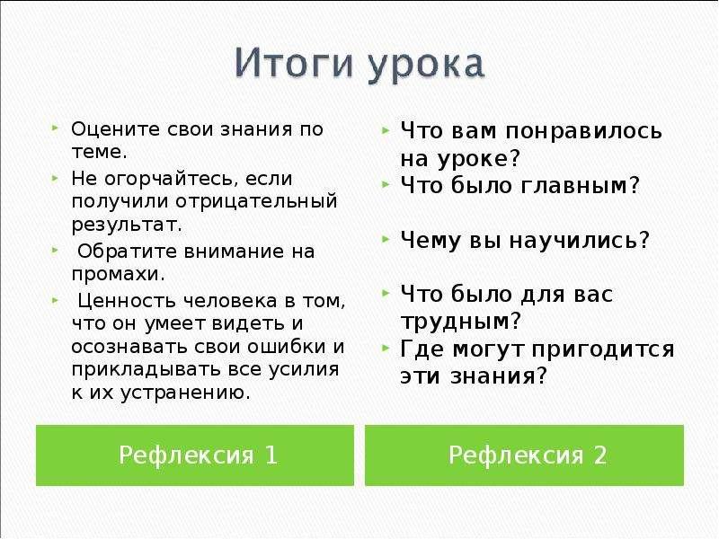 Рефлексия 1 Рефлексия 1