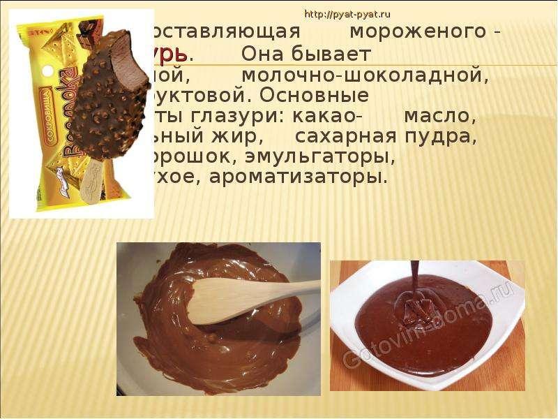 Рецепт глазури из какао и масла