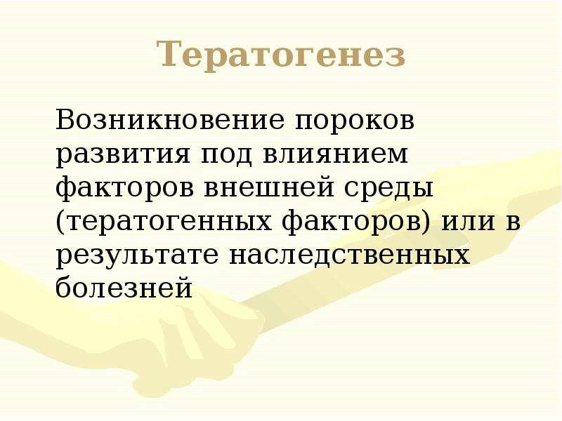 Тератогенез