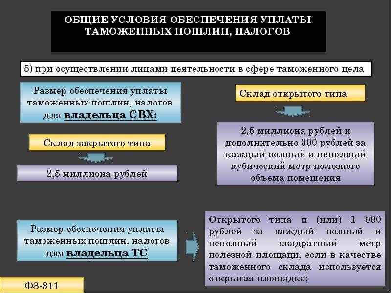 Обеспечение уплаты таможенных пошлин, налогов Подготовила: Лепичева Наталия, слайд 4