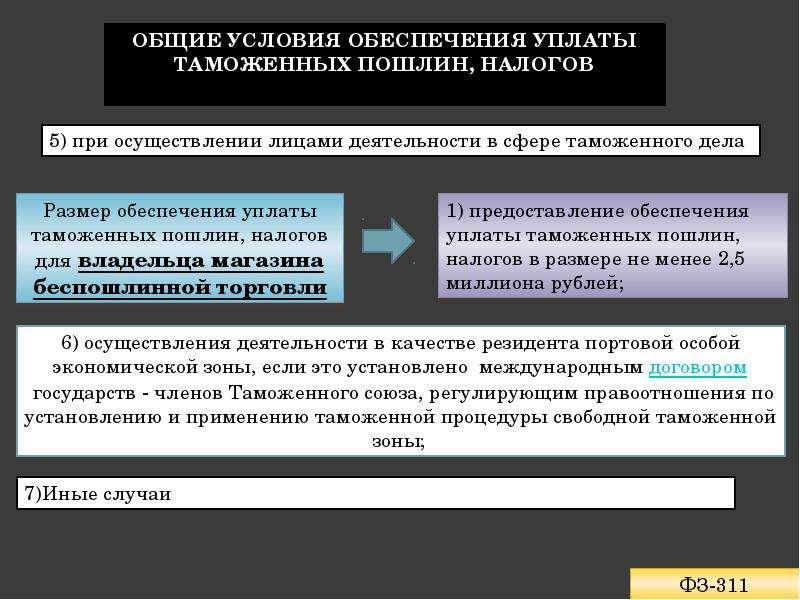 Обеспечение уплаты таможенных пошлин, налогов Подготовила: Лепичева Наталия, слайд 5