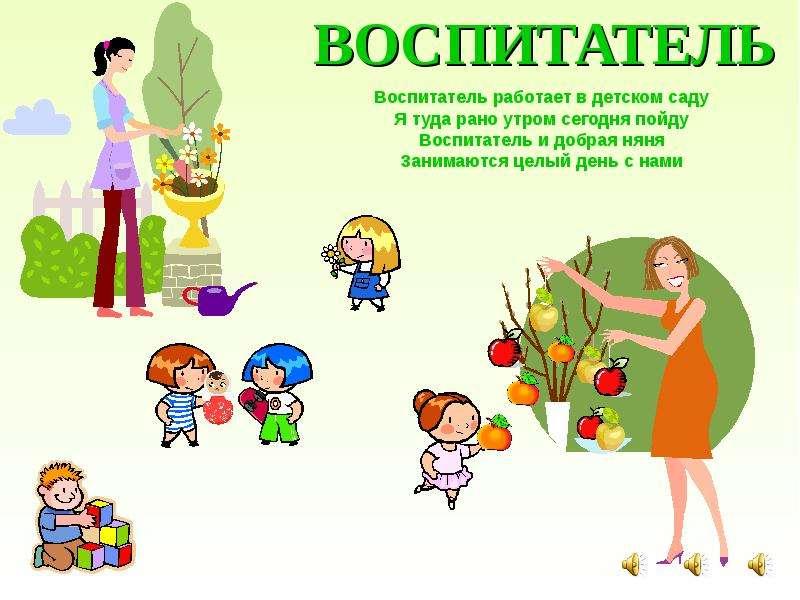 Презентация няни детского сада на конкурс