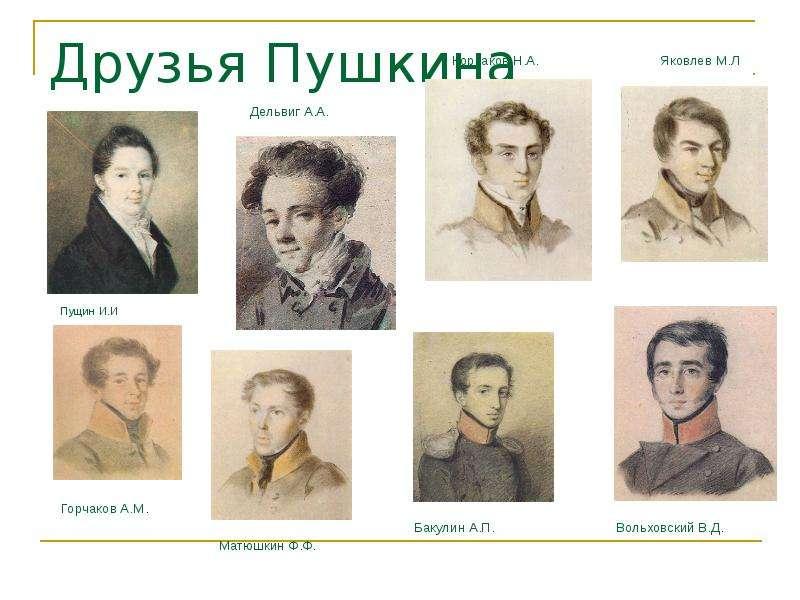 Рисунок друзья пушкина