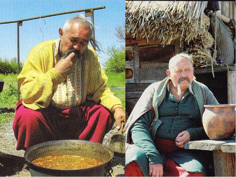 Хлеб да вода- казацкая еда. Запорожцы были неприхотливы в пище. Они готовили различные мучные болтуш