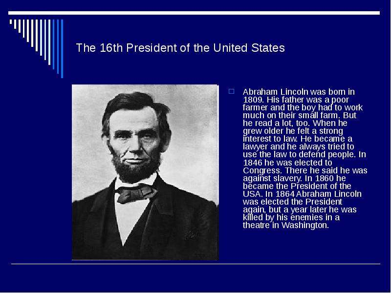 an analysis of the topic of the president lincoln
