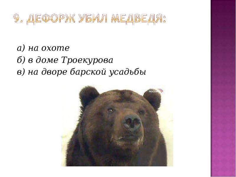 а) на охоте а) на охоте б) в доме Троекурова в) на дворе барской усадьбы