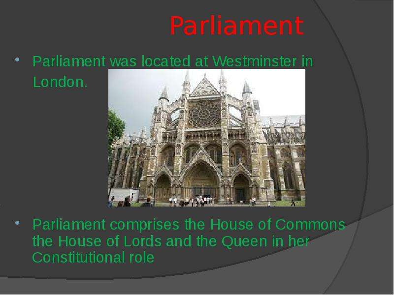 an analysis of the role of parliament the commons and lords in the play