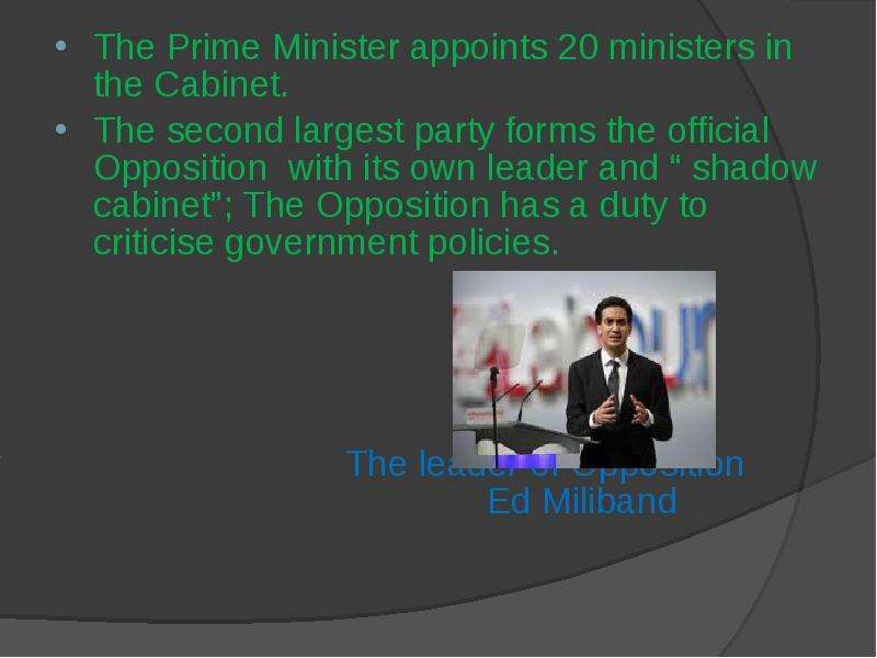 a comparison of the tasks and responsibilities of the prime minister of britain italy and holland Constitution of france's fifth republic - prime minister's general policy statement - council of ministers - other key bodies aller au contenu aller à la.