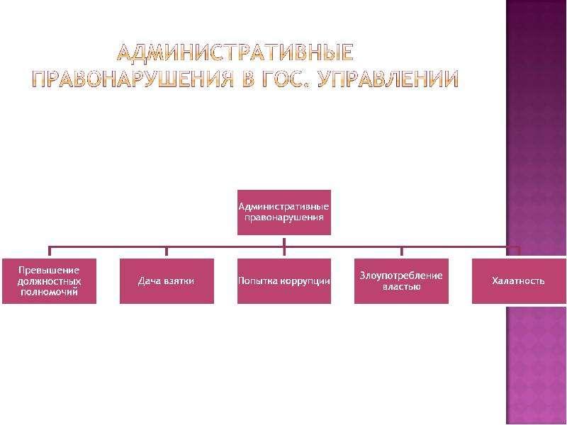 На тему Виды правонарушений в государственном управлении и их предупреждение, слайд 4