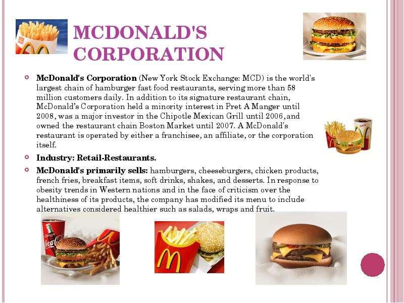 mcdonalds french success story Webquest, the mcdonald's story the mcdonald's story: go 14 - why was 1965 an important year in the mcdonald's success story 15.