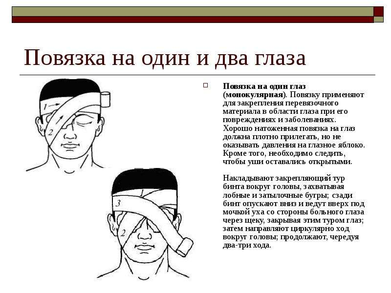 Повязка на один глаз