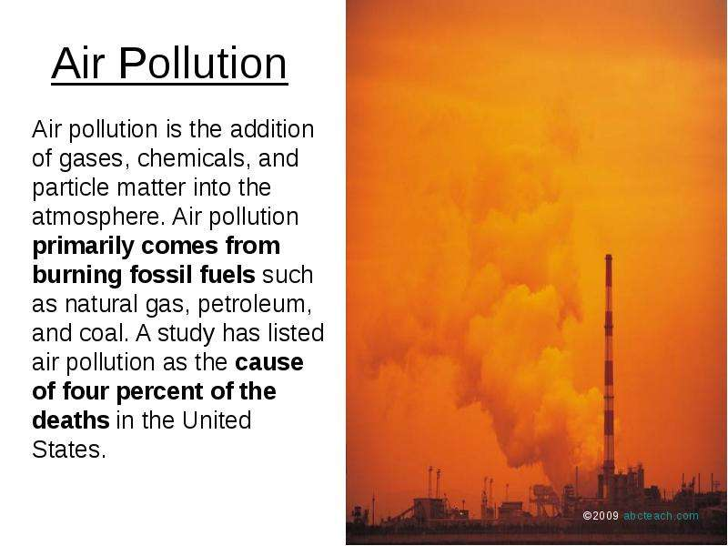 problems caused by air pollution essay