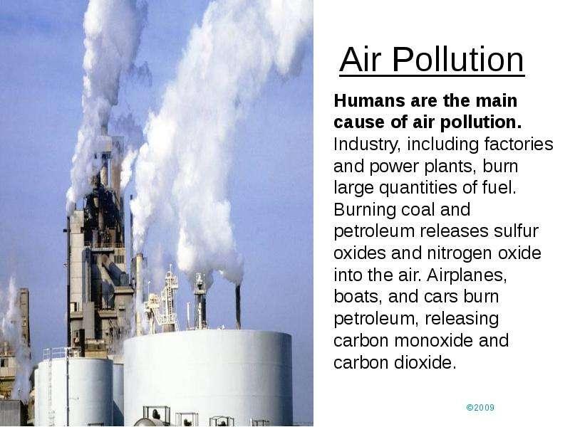 the air pollution
