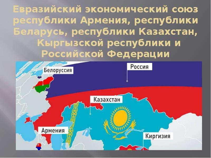 Евразийский экономический союз республики Армения, республики Беларусь, республики Казахстан, Кыргыз