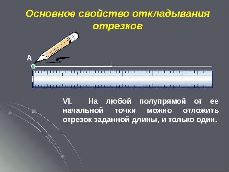 Основное свойство откладывания отрезков