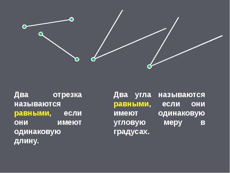 Основные свойства простейших геометрических фигур, слайд 21