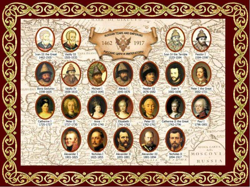 the history of the tsar of russia