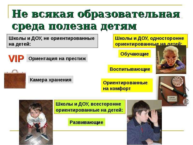 Не всякая образовательная среда полезна детям