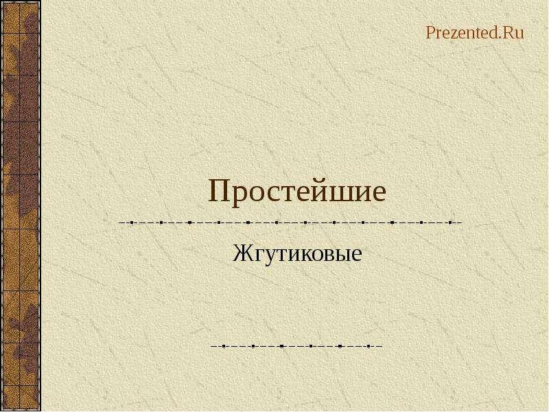 Презентация По биологии Простейшие Жгутиковые