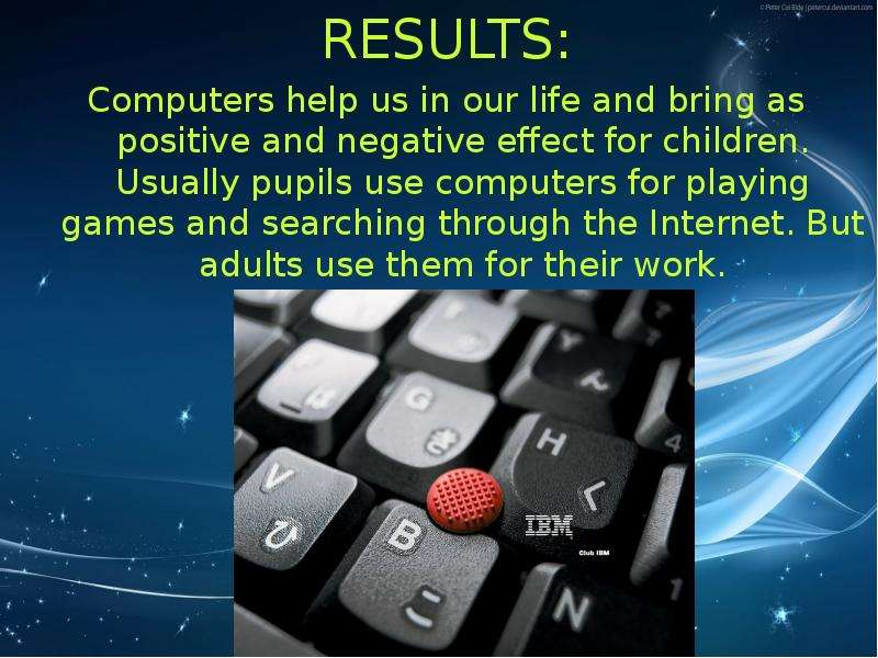 computers and the affects in our