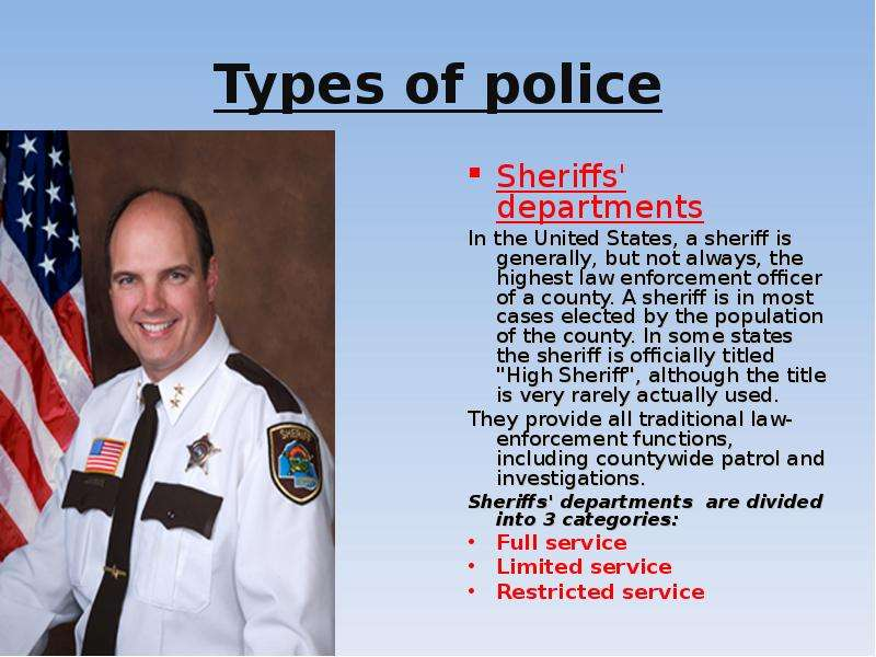 an essay on law enforcement in the united states Law enforcement in the united states is one of three major components of the criminal justice system of the united states, along with courts and corrections.