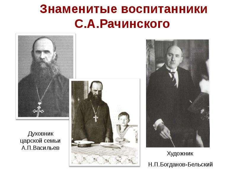 Знаменитые воспитанники С. А. Рачинского