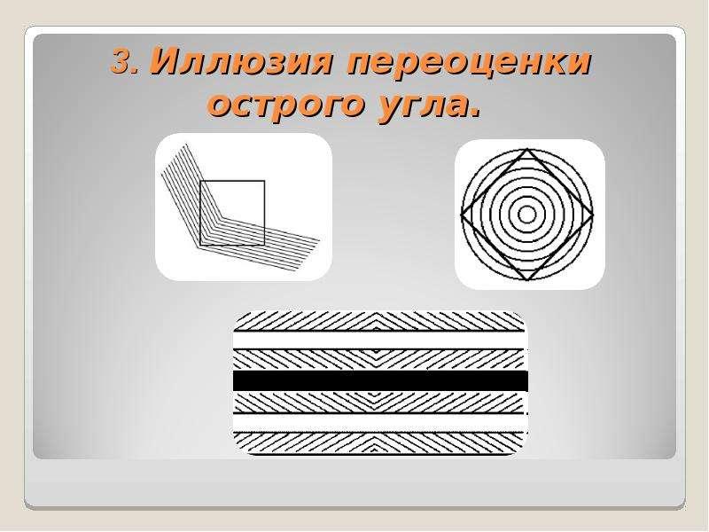 3. Иллюзия переоценки острого угла.