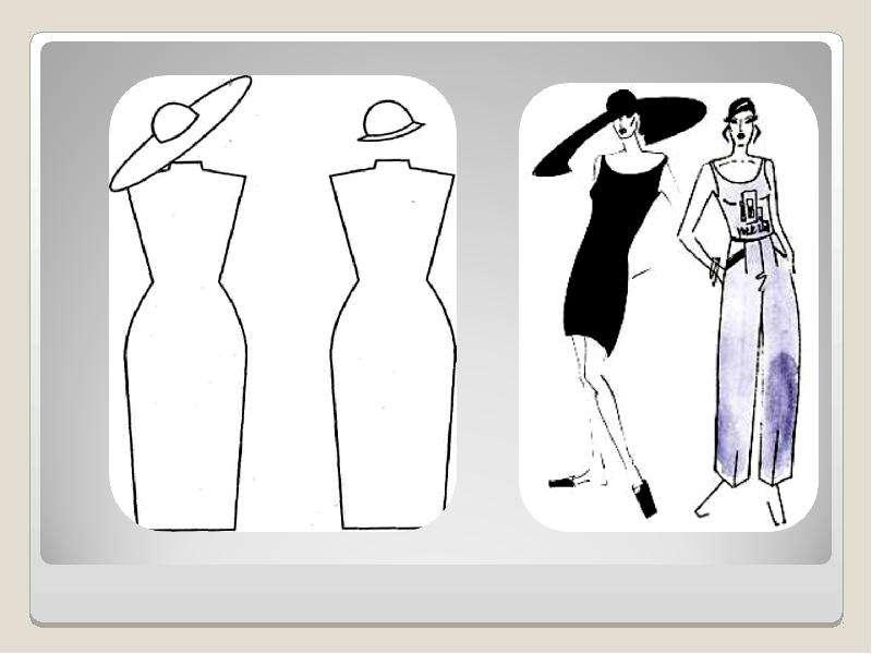 ПЛАН УРОКА: Повторение темы предыдущего урока Введение в новый материал Типы иллюзий ЗРИТЕЛЬНЫЕ ИЛЛЮЗИИ В ОДЕЖДЕ: Иллюзия перео, слайд 19