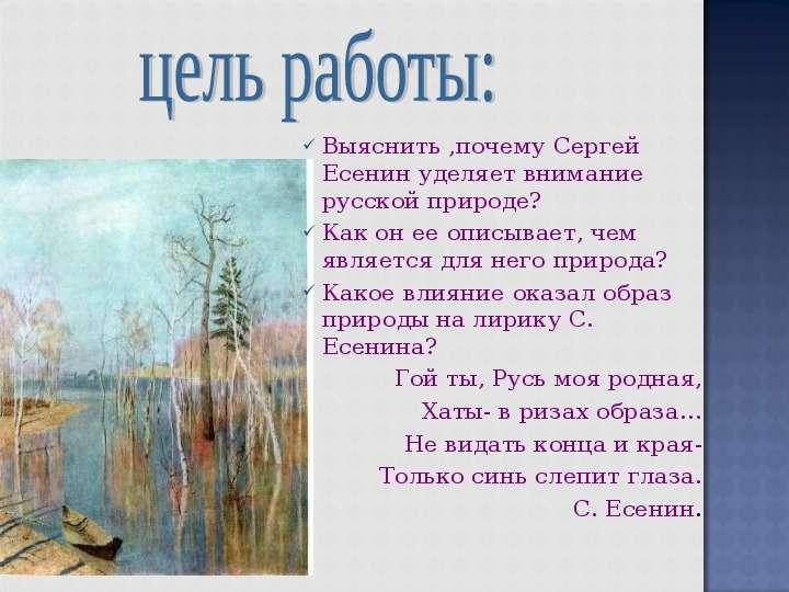 Презентация по литературе про стихи о природе
