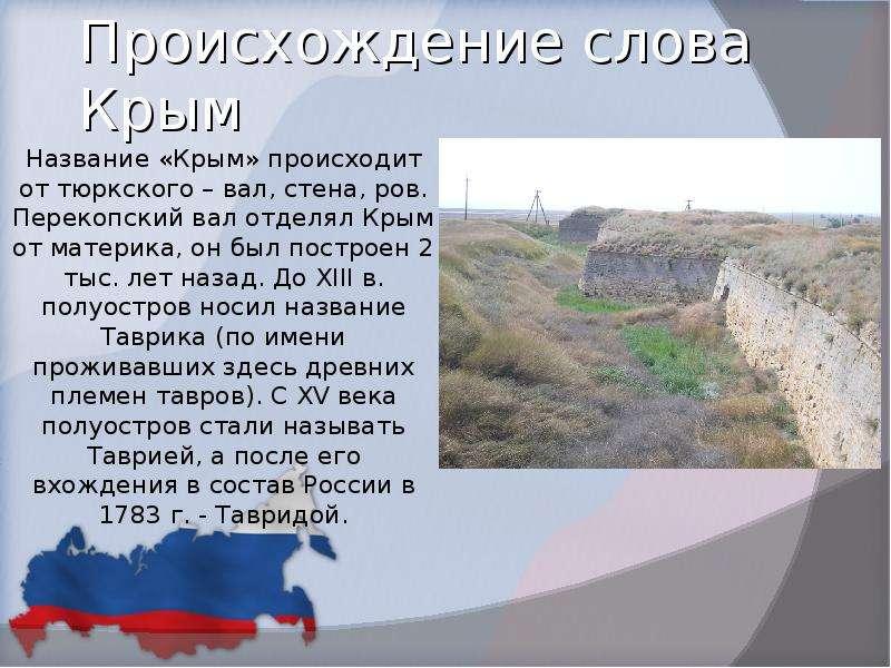Происхождение слова Крым