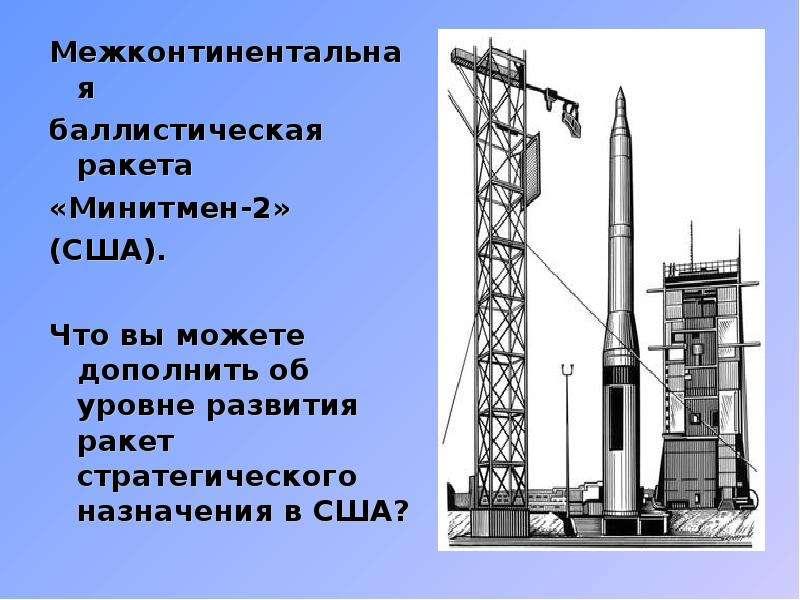 Межконтинентальная Межконтинентальная баллистическая ракета «Минитмен-2» (США). Что вы можете дополн