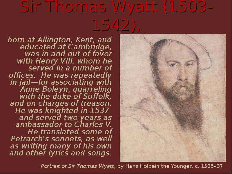 research paper and sir thomas wyatt
