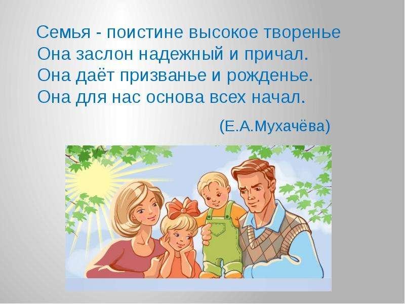Семья презентация в доу