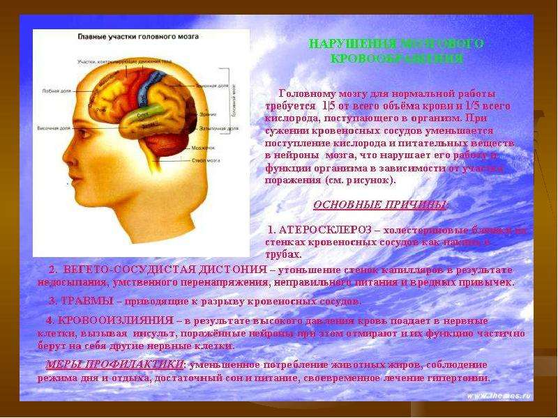 Болезни связанные из сосудами головы