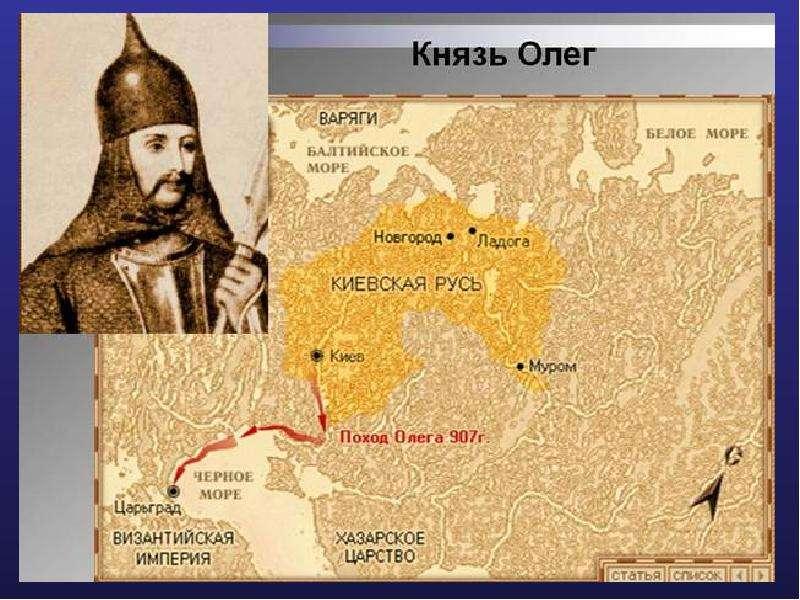На тему Первые русские князья., слайд 21