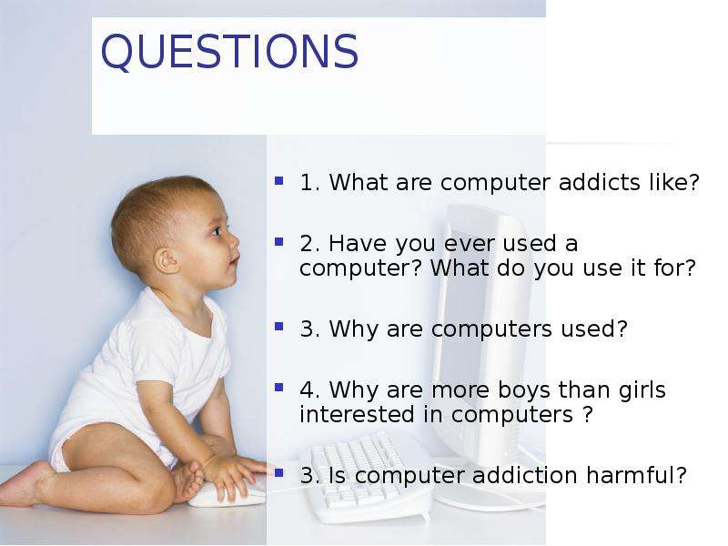 what is computer addiction Types of addiction: list of addictions some types of addiction are specified in the diagnostic and statistical manual of mental disorders.