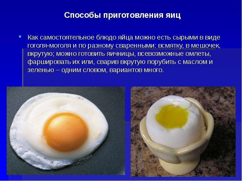 Блюда яиц рецепты