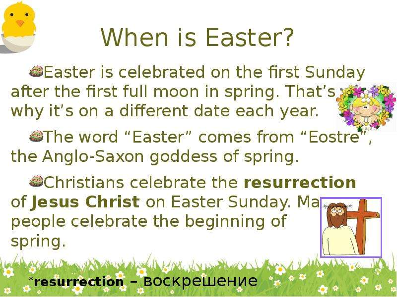 When is Easter? Easter is celebrated on the first Sunday after the first full moon in spring. Thats