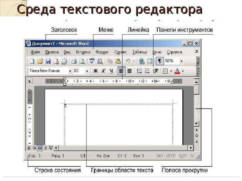 Презентация текстового редактора