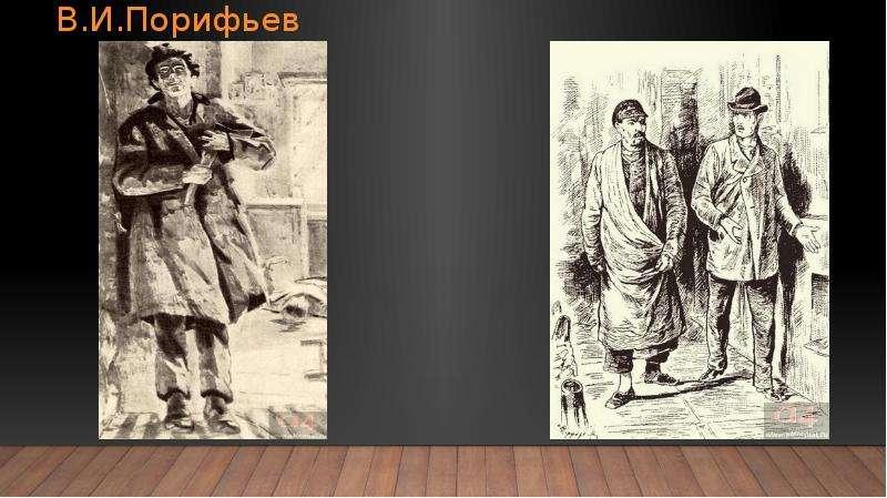 О. С. Евсеев и В. И. Порифьев «Раскольников после убийства» «Раскольников и мещанин»