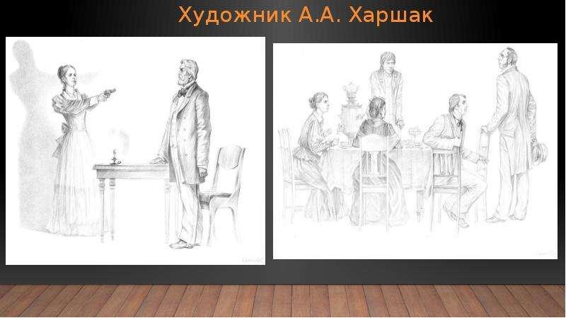 Художник А. А. Харшак Иллюстрации действий в помещении