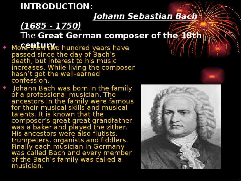 an introduction to the family of musicians of johann sebastian bach