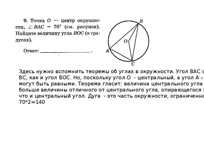Разбор первой части ГИА по математике. Модуль Геометрия В данной презентации будет дана необходимая теоретическая база, благодар, рис. 9